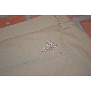 10837 Mens Adidas Golf Pants Size 38 x 34 Tan